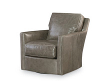 Larren Grey Brendan Leather Swivel Chair