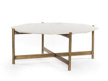 Fulton Amalfi Coffee Table - Natural Brass