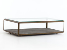 Fulton Pelle Shadow Box Coffee Table - Brass