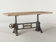 HTM Ironworks Rectangular Adjustable Dining Table