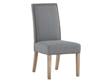 HTM James Dining Chair - Warm Grey, Natural Leg