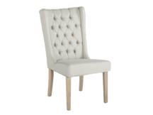 HTM Abby Dining Chair - Off White, Natural Leg
