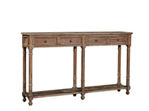 Fairview Narrow Console Table - Distressed Mahagony