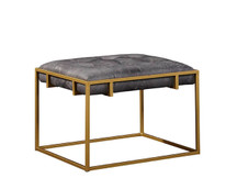 Fairview Leather Ottoman/Side Table