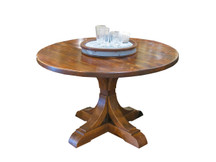 "Silverlake 66"" Crescent Pedestal Dining Table (Clearance)"