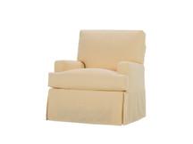Gabe Slipcovered Swivel Chair