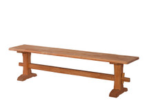 Ridgewood Live-Edge Trestle Bench