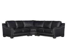 BY Randleman Leather Sectional