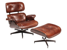 Unionworks Boulevard Leather Chair with Ottoman