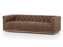 Fulton Cube Leather Sofa