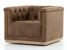 Fulton Cube Leather Chair