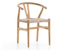 Fulton Teak Wishbone Dining Chair