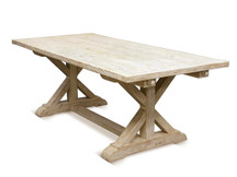 Silverlake Garden Trestle Dining Table - Weathered White (Clearance)