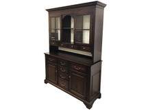 Manchester Heirloom Cabinet with Hutch - Cherry (Clearance)