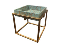 Turquoise Pebble Tray Table (Clearance)