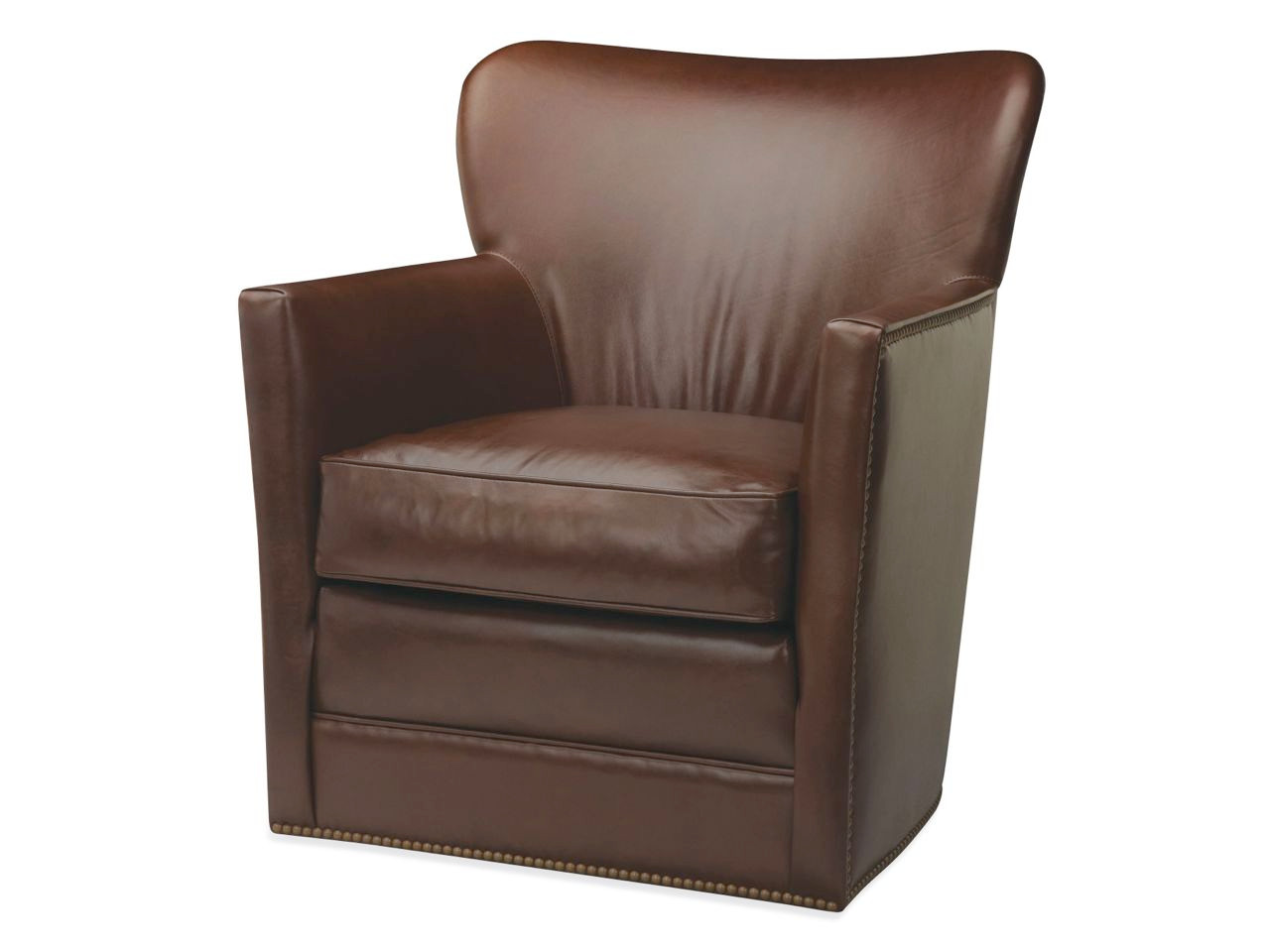 Marvelous Cooper Leather Swivel Chair Leather Swivel Chairs Swivel Andrewgaddart Wooden Chair Designs For Living Room Andrewgaddartcom