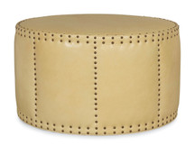 Barrow Leather Cocktail Ottoman