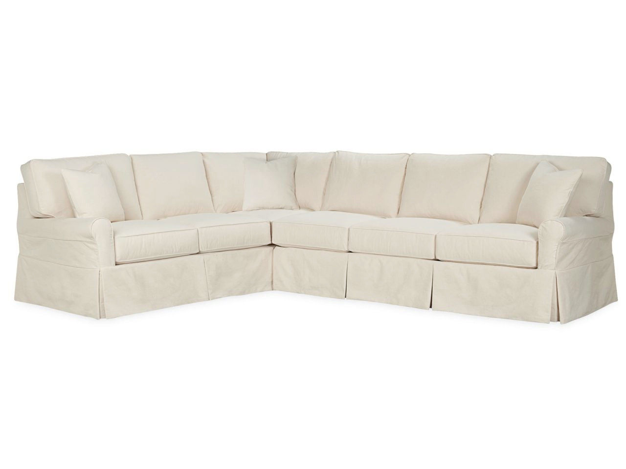 Kelsey Roll Arm Slipcovered Sectional Series | Sectionals ...