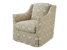 Landis Slipcovered Swivel Chair
