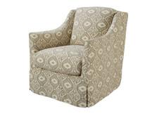 Landis Slipcovered Swivel Chair