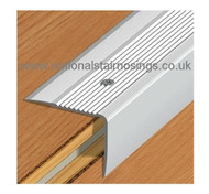 Aluminium Stair Edge Nosing For Laminate,Wood,Carpet,Tile - 55x44mm -2.5m