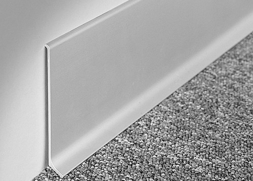 Aluminium Skirting Board Anodised Silver Or Brushed