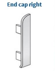 End Cap Right For Aluminium Clip-On Skirting