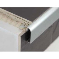 Aluminium Worktop Countertop Edging For Tiles - 2.5m.