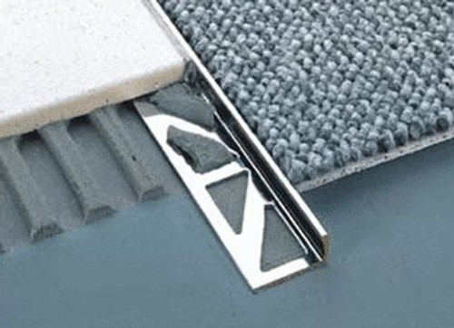 Aluminium Straight Edge Tile Trim- 2 5m