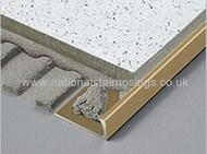 Brass Straight Edge Tile Trim- 2.5m