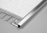 Aluminium Square Edge Tile Trim - 2.5m