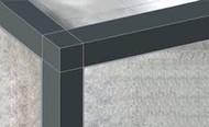 PVC Square Edge Tile Trims - 2.5m