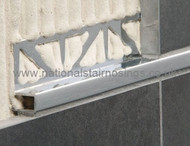 Aluminium Rectangular Box Edge Tile Trim - 2.5m