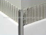 Stainless Steel Rectangular Box Edge Tile Trim - 2.5m.
