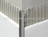Stainless Steel Rectangular Box Edge Tile Trim - 2.5m.