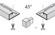 Internal/External Corner Y For Stainless Steel Rectangular Edge Trim
