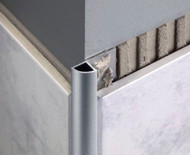 Aluminium Quadrant Corner Edge Tile Trim - 2.5m