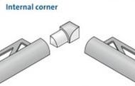 Internal Corner YI For Aluminium Quadrant Corner Edge Tile Trim