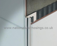 Stainless Steel Quadrant Corner Edge Tile Trim - 2.5m.