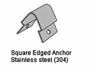 Square Edged Anchor For Square Flush Mount Corner Guard
