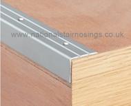 Aluminium Stair Edging,Perforated - 2.7m.
