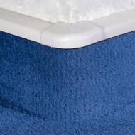 External Corner X For PVC Carpet Skirting With Bridge.