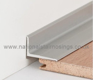 Aluminium Wall /Floor Connection & Border Edging Profile - 2.7m