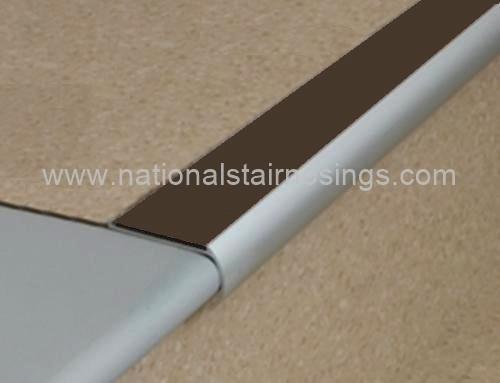 Bullnose non slip stair nosings for vinyl lino national stair