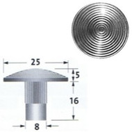 Stainless Steel (316) Tactile Stud With Stem, Grooved