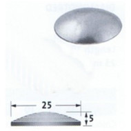 Aluminium Tactile Stud For Adhesive Fixing-Plain, Flat Back