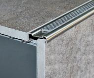 Stainless Steel Anti slip Tile-In Stair Nosing-2.5m