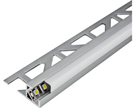 LED Aluminium Square Edge Tile Trim -2.5m