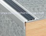 Anti Slip Stair Nosing Non Slip Stair Edge Nosings For Carpets, Vinyl,Laminate -2.5m