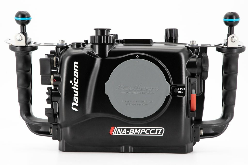Na Bmpccii Housing For Blackmagic Pocket Cinema Camera 4k Incl Vacuum Valve And 4 X 18650 Battery Holder Excl Batteries Underwater Visions